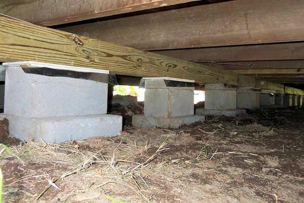 Столбчатый фундамент для дачного дома фото